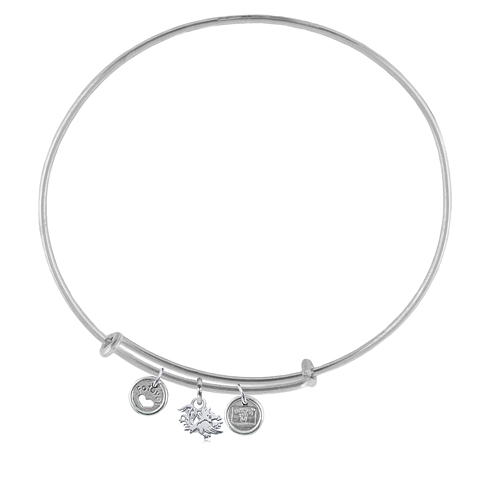 Sterling Silver South Carolina Adjustable Bracelet with Charms