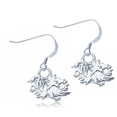 Sterling Silver University of South Carolina Dangle Earrings
