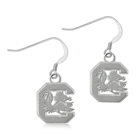 Sterling Silver South Carolina Dangle Earrings