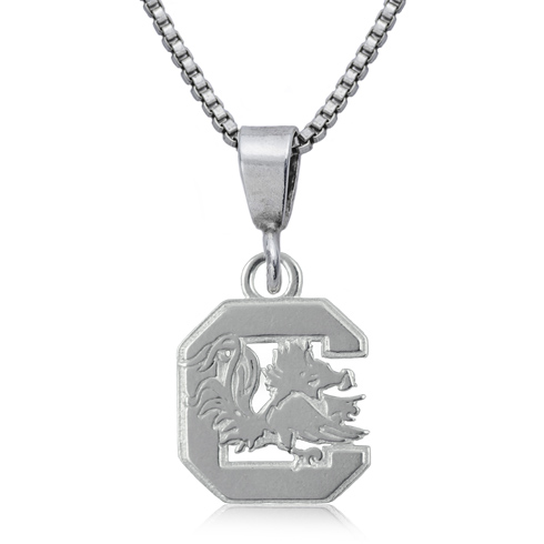 Sterling Silver 16in South Carolina Charm Necklace