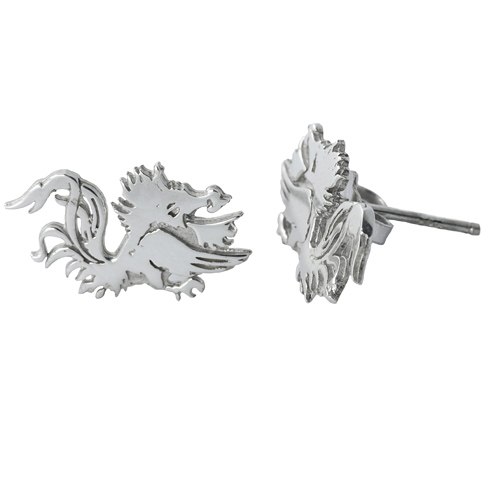Sterling Silver South Carolina Post Earrings