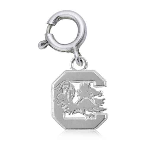 Sterling Silver 3/8in South Carolina Charm