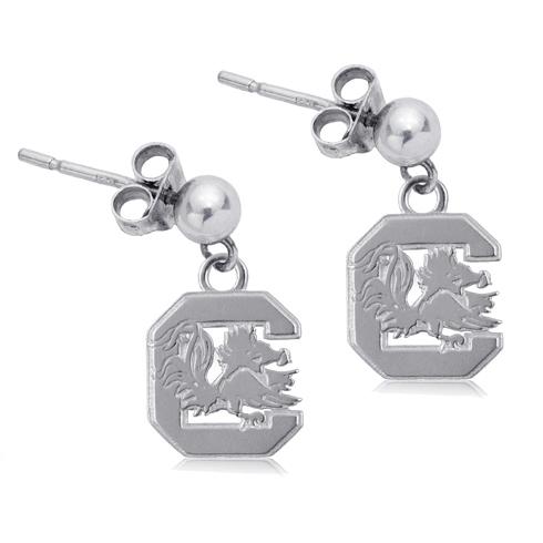 Sterling Silver South Carolina Post Dangle Earrings