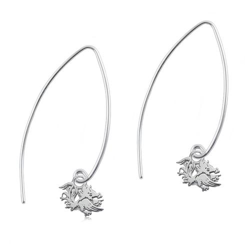 Sterling Silver South Carolina Long Fishhook Earrings
