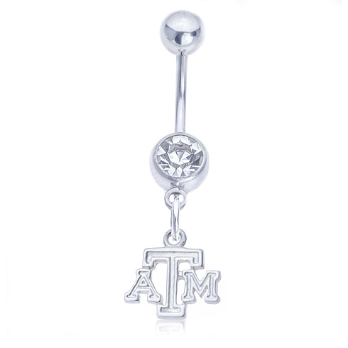 Texas A&M University Belly Button Ring
