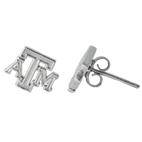 Sterling Silver Texas A&M Post Earrings