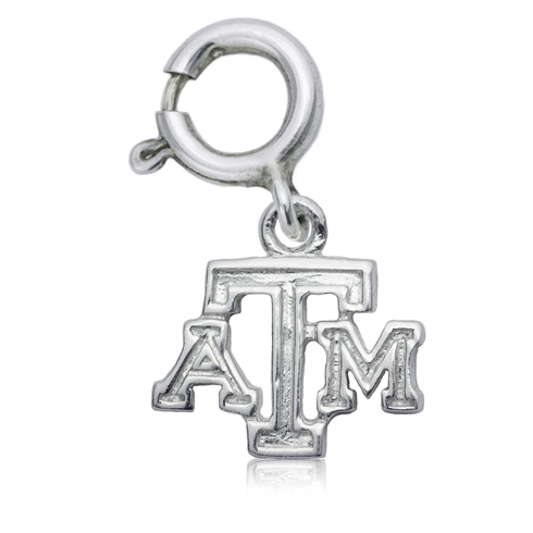 Sterling Silver 3/8in Texas A&M Charm
