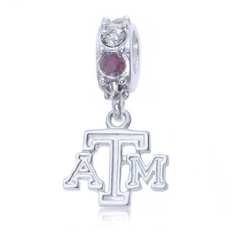 Sterling Silver Spirit Texas A&M University Charm Bead