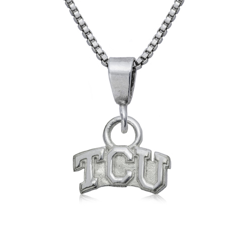 Sterling Silver 16in TCU Charm Necklace