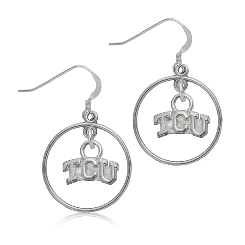 Sterling Silver TCU Open Drop Earrings
