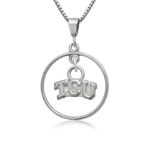 Sterling Silver 16in TCU Open Drop Necklace