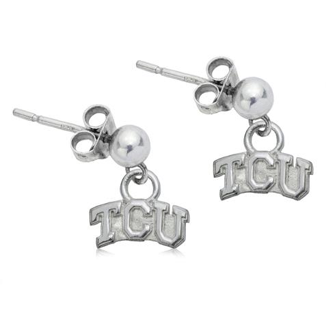 Sterling Silver TCU Post Dangle Earrings