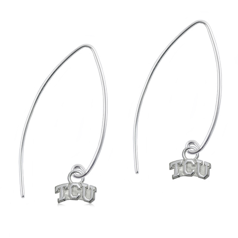 Sterling Silver TCU Long Fishhook Earrings