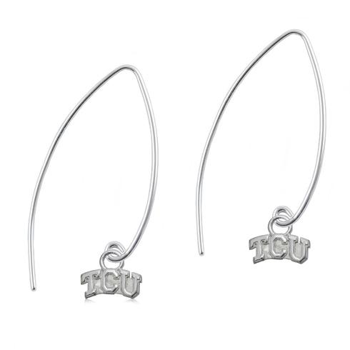 Sterling Silver TCU Long Fishhook Earrings