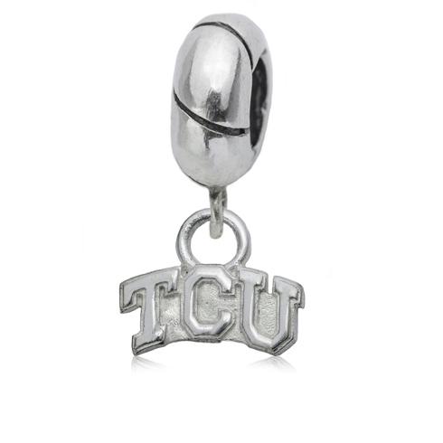 Sterling Silver TCU Charm Bead