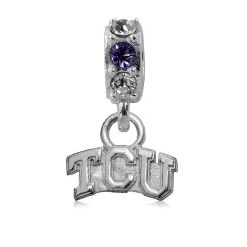 Sterling Silver TCU Spirit Charm Bead