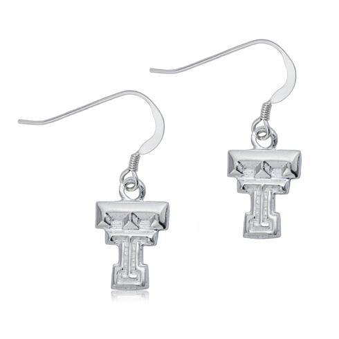 Sterling Silver Texas Tech Dangle Earrings