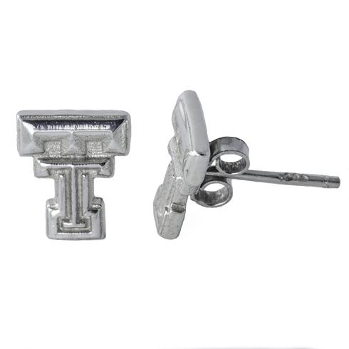 Sterling Silver Texas Tech Post Earrings