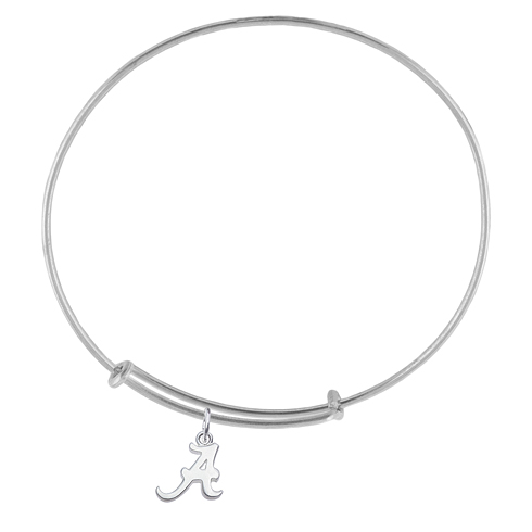 Sterling Silver Univ of Alabama Charm Adjustable Bracelet