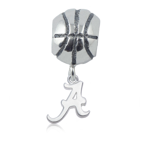 Sterling Silver University of Alabama Basketball Bead