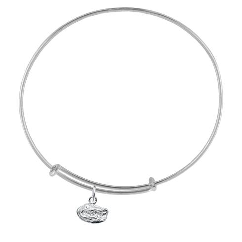 Sterling Silver Univ of Florida Charm Adjustable Bracelet