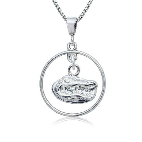 Sterling Silver University of Florida Open Drop Necklace