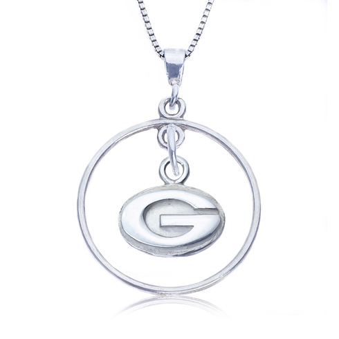 Sterling Silver 16in Open Drop Georgia Necklace