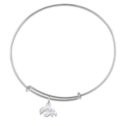 Sterling Silver Univ of Iowa Charm Adjustable Bracelet