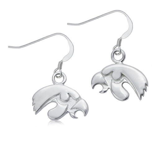 Sterling Silver University of Iowa Dangle Earrings