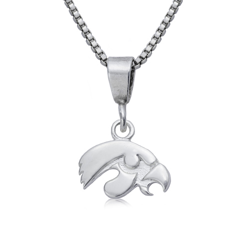 Sterling Silver 16in University of Iowa Charm Necklace