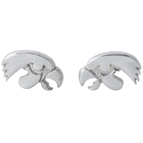 Sterling Silver University of Iowa Post Earrings