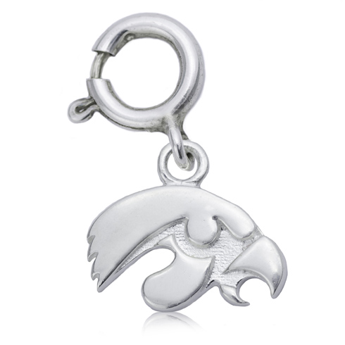 Sterling Silver 3/8in University of Iowa Charm