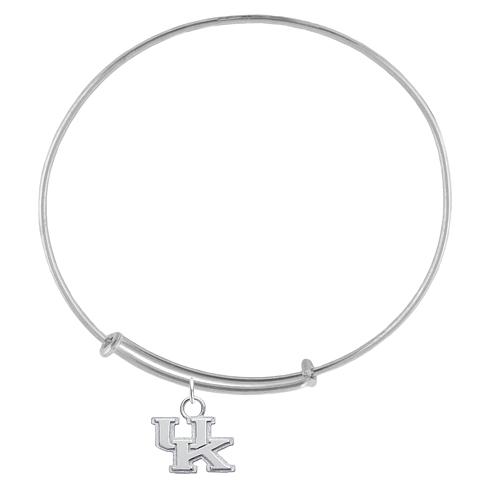 Sterling Silver Univ of Kentucky Charm Adjustable Bracelet