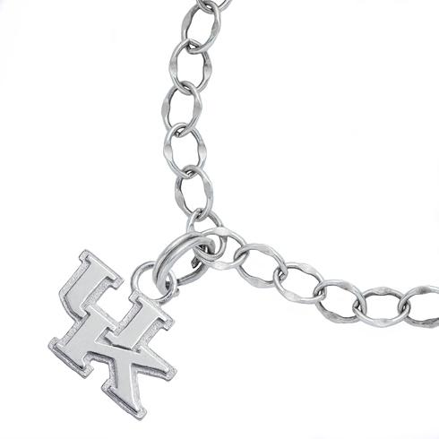 Sterling Silver 7 1/2in University of Kentucky Charm Bracelet