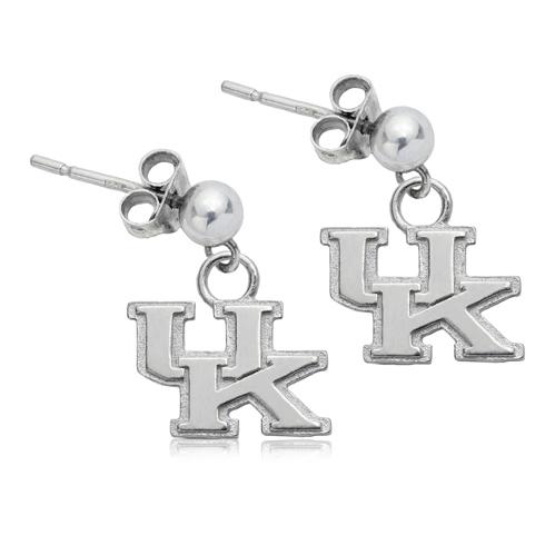 Sterling Silver University of Kentucky Post Dangle Earrings