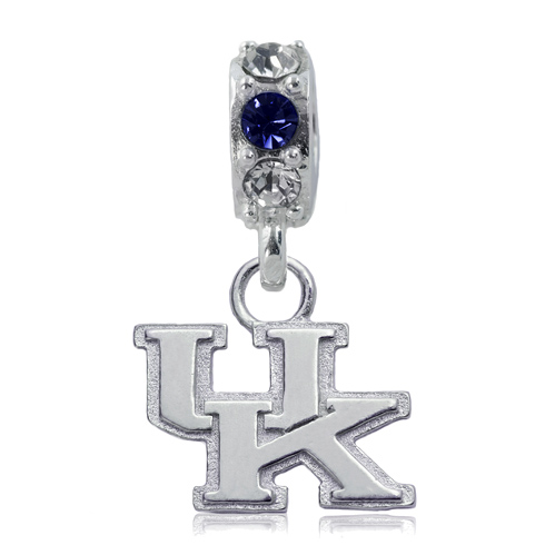Sterling Silver University of Kentucky Spirit Charm Bead
