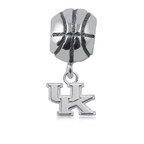 Sterling Silver University of Kentucky Basketball Bead