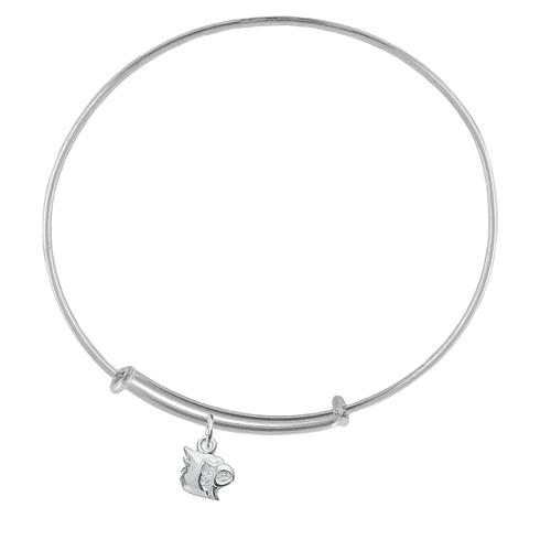 Sterling Silver Univ of Louisville Charm Adjustable Bracelet