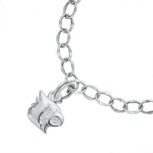 Sterling Silver 7 1/2in University of Louisville Charm Bracelet