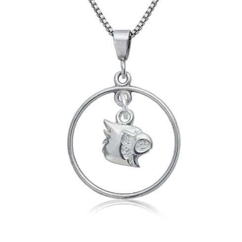 Sterling Silver University of Louisville Open Drop Necklace