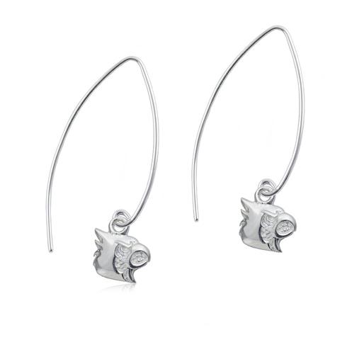 Sterling Silver University of Louisville Long Fishhook Earrings