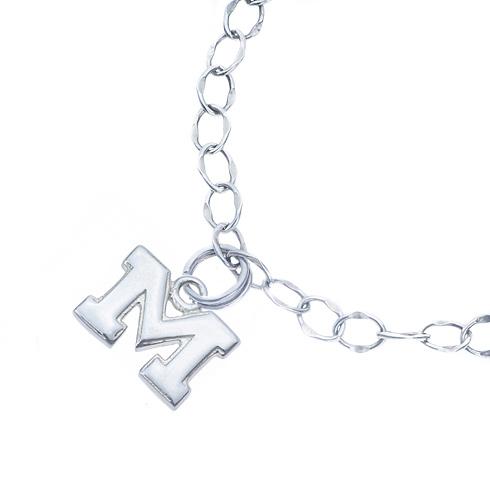 Sterling Silver Charm Michigan Bracelet