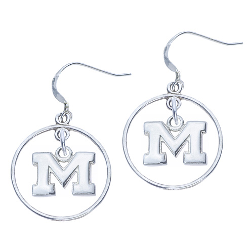 Sterling Silver Open Drop Michigan Earrings