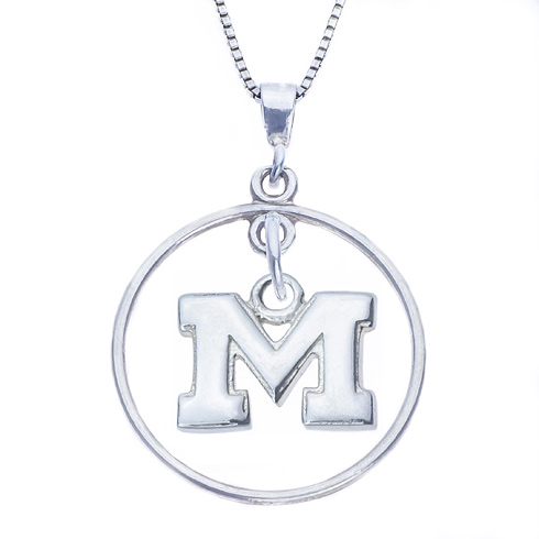 Sterling Silver 16in Open Drop Michigan Necklace