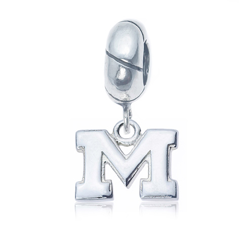 Sterling Silver University of Michigan Charm Bead