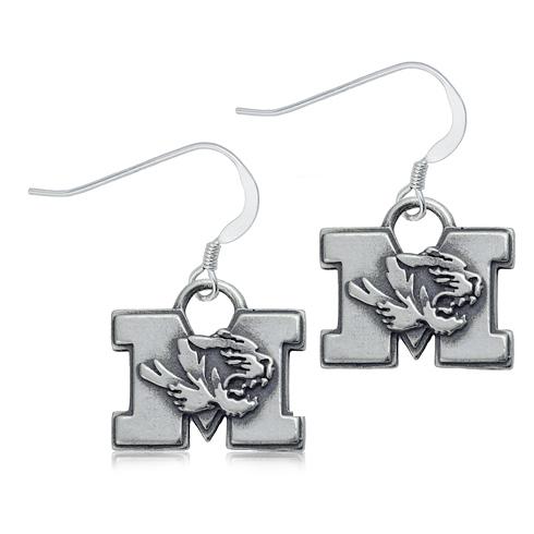 Sterling Silver University of Missouri Dangle Earrings