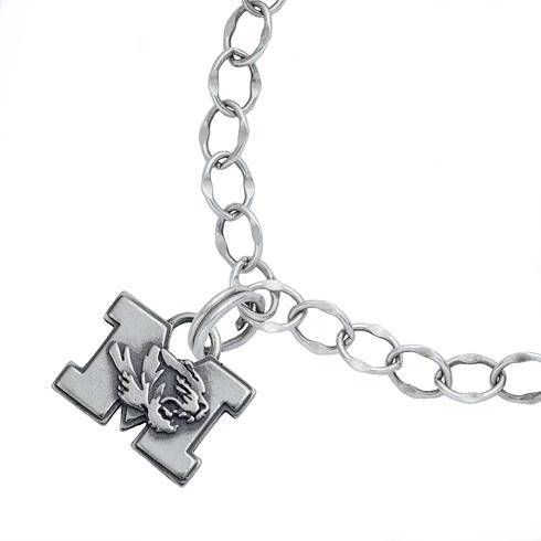 Sterling Silver 7 1/2in University of Missouri Charm Bracelet