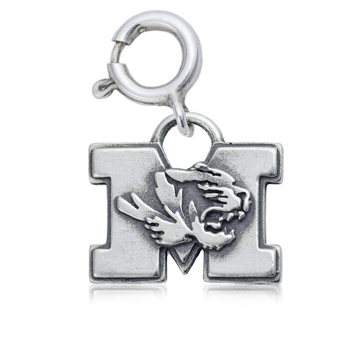 Sterling Silver 3/8in University of Missouri Charm