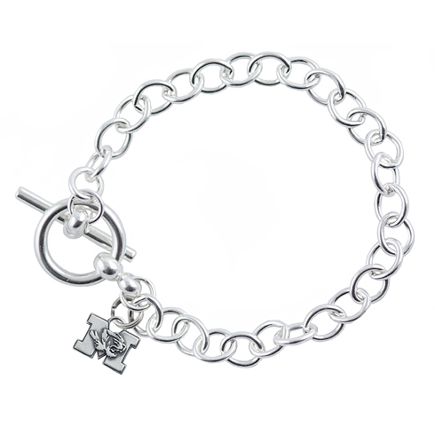 Sterling Silver 7 1/2in University of Missouri Link Bracelet