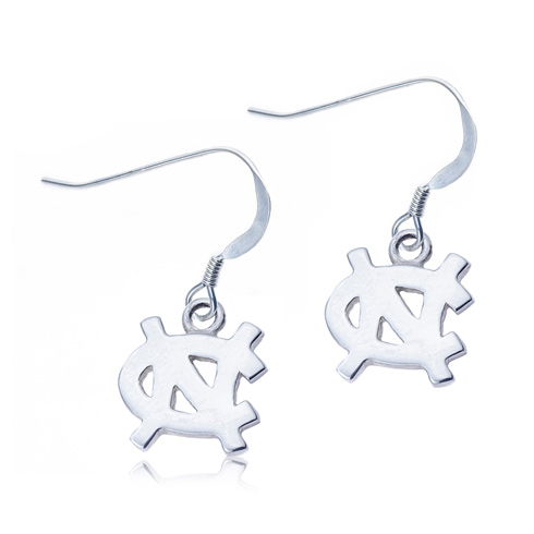 Sterling Silver University of North Carolina Dangle Earrings